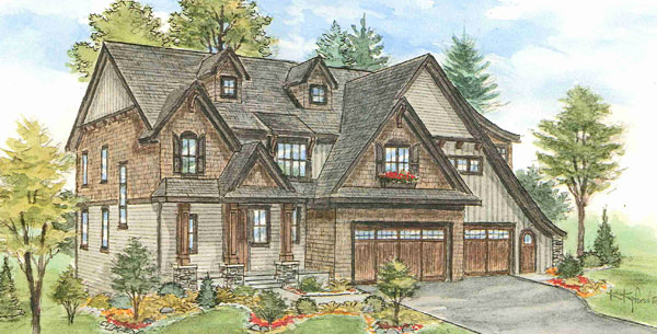 This sketch shows what the house on Arrowhead Lake in Edina will look like when ready for sale in the spring of 2014.