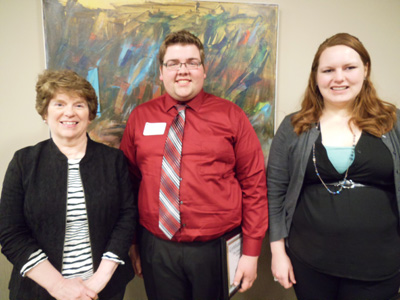 L-R) Margaret George, Mitchell A. Hurrle and Danielle M. Kahler