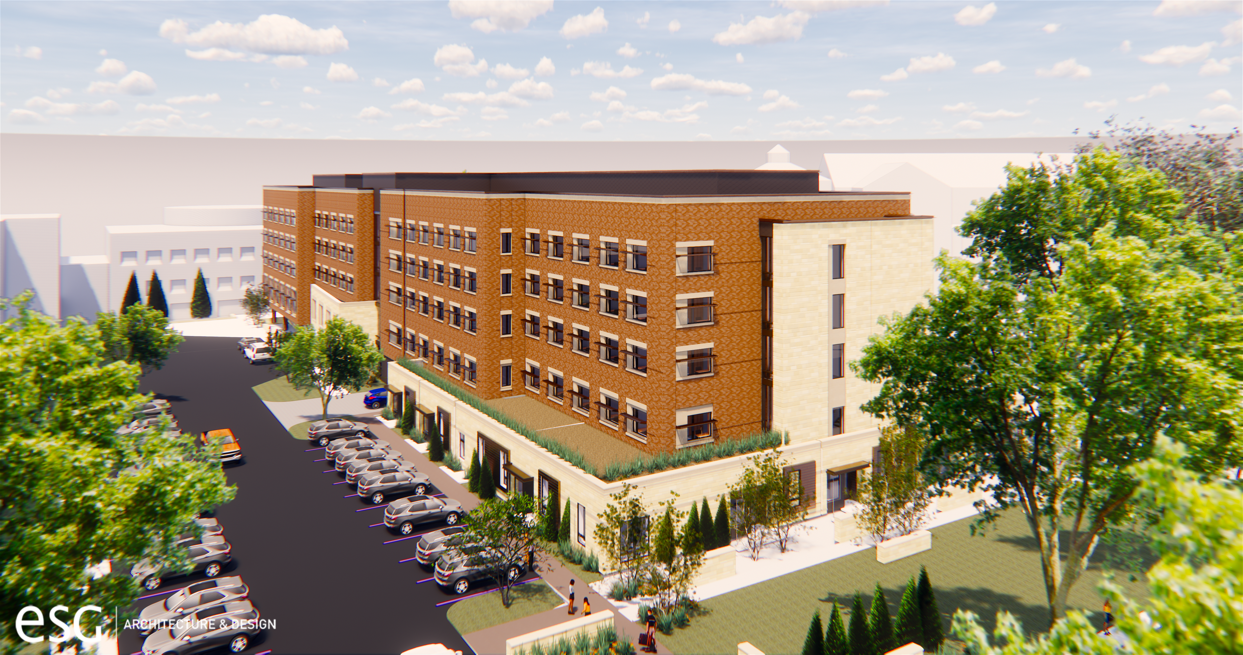 A rendering shows the plans for the new sophomore residence hall.