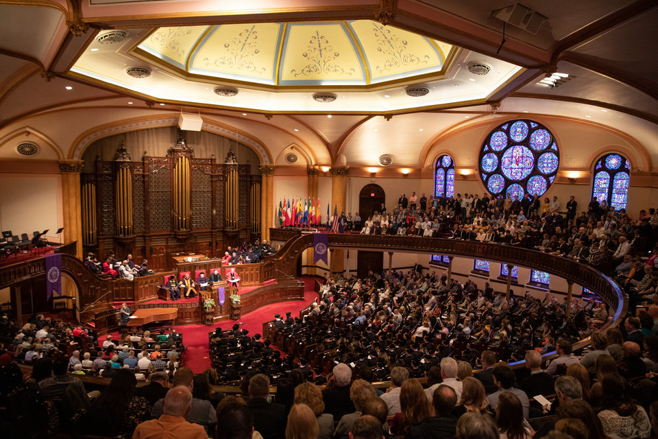 The 2019 School of Law Commencement Ceremony at Westminster Presbyterian Church in Minneapolis on May 18, 2019.