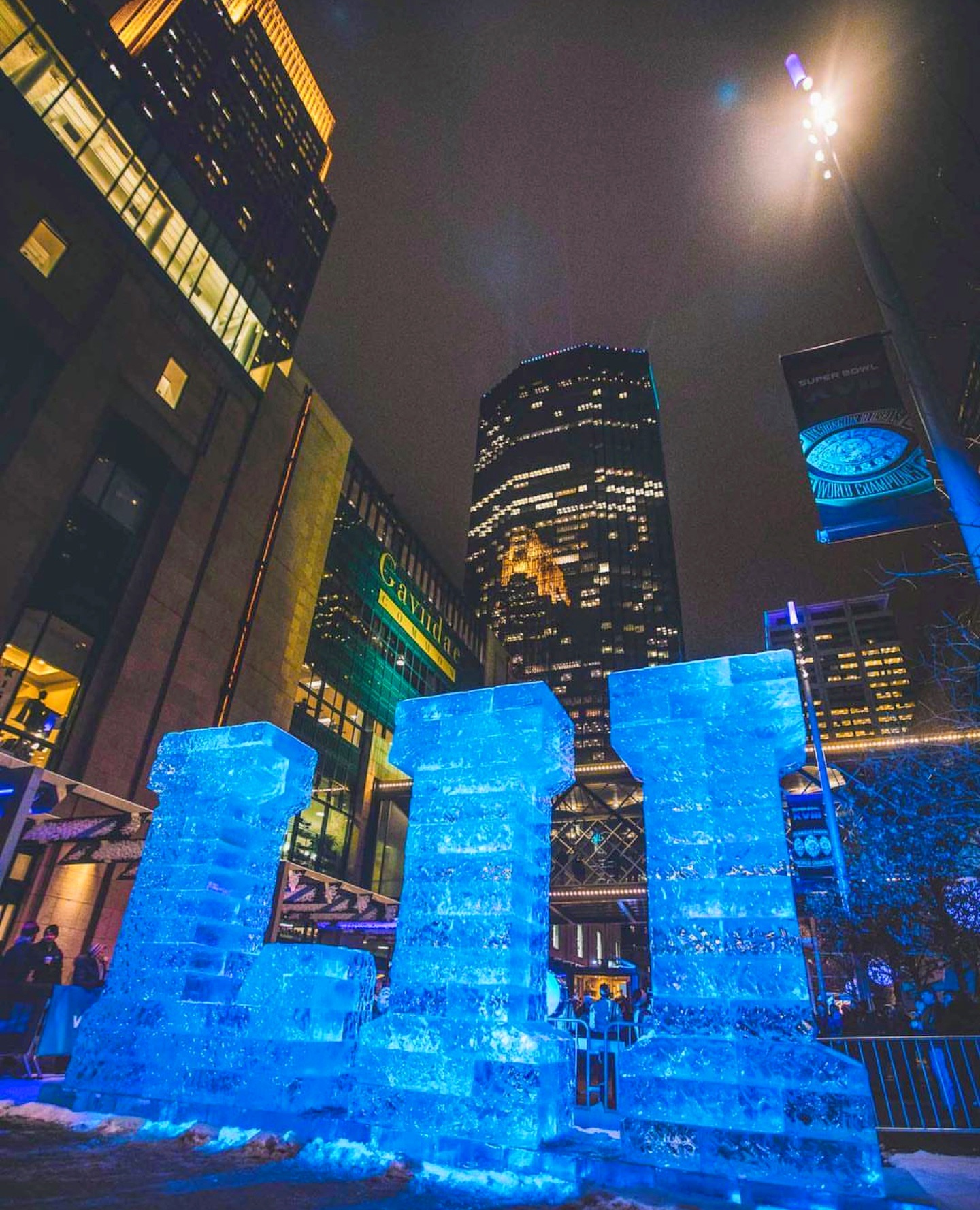 minnesota ice super bowl sculpture