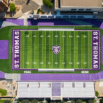 An aerial photo of O'Shaughnessy Stadium. Mark Brown/University of St. Thomas