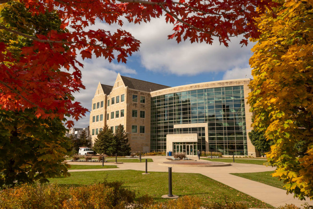 The School of Law building on a beautiful fall day on October 24, 2019, in Minneapolis.